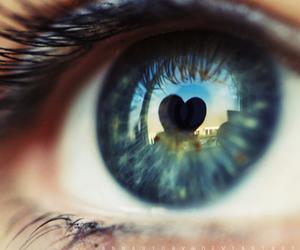heart, eye, and eyes image