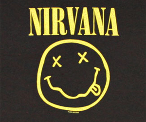 nirvana, music, and black and white image