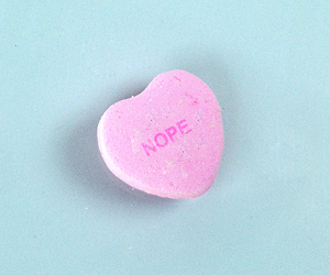 candy, heart, and nope image