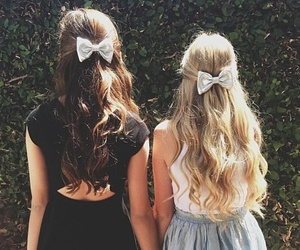 blonde, bows, and girls image