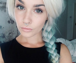 septum, pretty, and beauty image