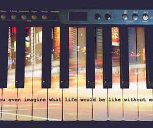 music, piano, and life image