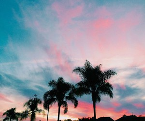 sunset, california, and sky image