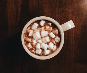 chocolate, food, and marshmallows image