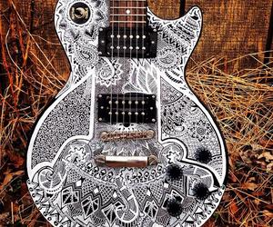 guitar, music, and boho image