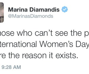 marina and the diamonds, feminism, and international women's day image