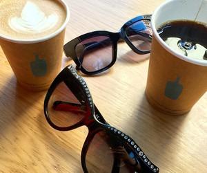 fashion, sunglasses, and coffee image