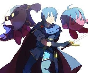 kirby, marth, and fire emblem image