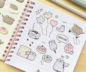 cat, pusheen, and kawaii image