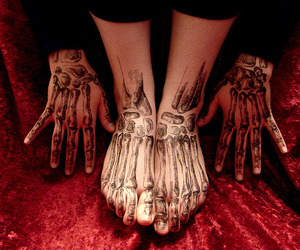 art, feet, and hands image