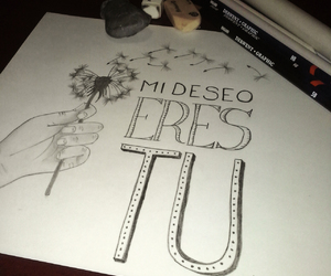 dandelion, deseo, and drawing image