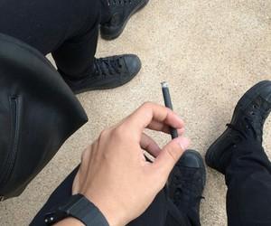black and smoke image