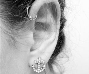 anchor, want, and ear piercings image
