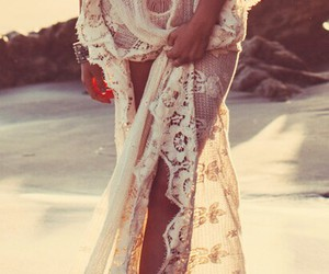 beach, hippie, and sexy image