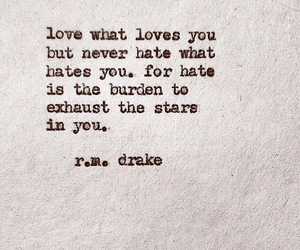 hate, quote, and love image