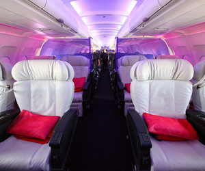 airplane, luxury, and pink image