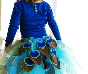 peacock, blue, and skirt image