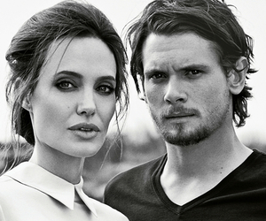 Angelina Jolie, jack o'connell, and unbroken image