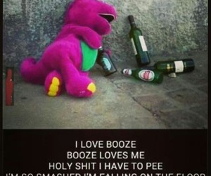 barney, booze, and drunk image