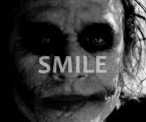 smile, joker, and batman image