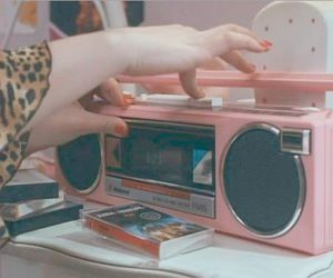 casette, music, and pink image