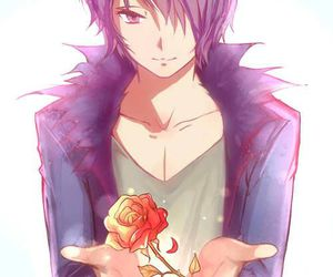 anime, rose, and boy image