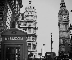 black&white, city, and london image