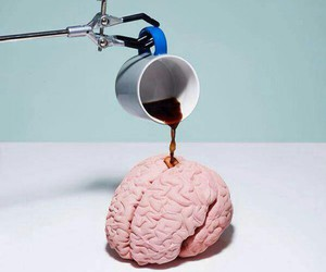 coffee, brain, and pastel image