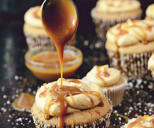 cupcake, food, and caramel image