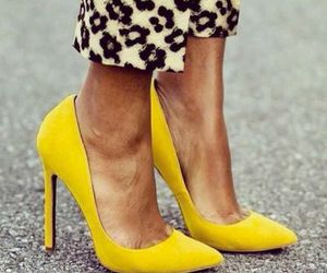 yellow, fashion, and shoes image