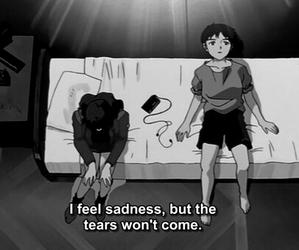 anime, Neon Genesis Evangelion, and sadness image