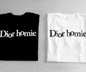 dior, white, and black image