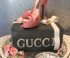 cake, gucci, and sweet image