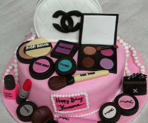 cake, mac, and chanel image