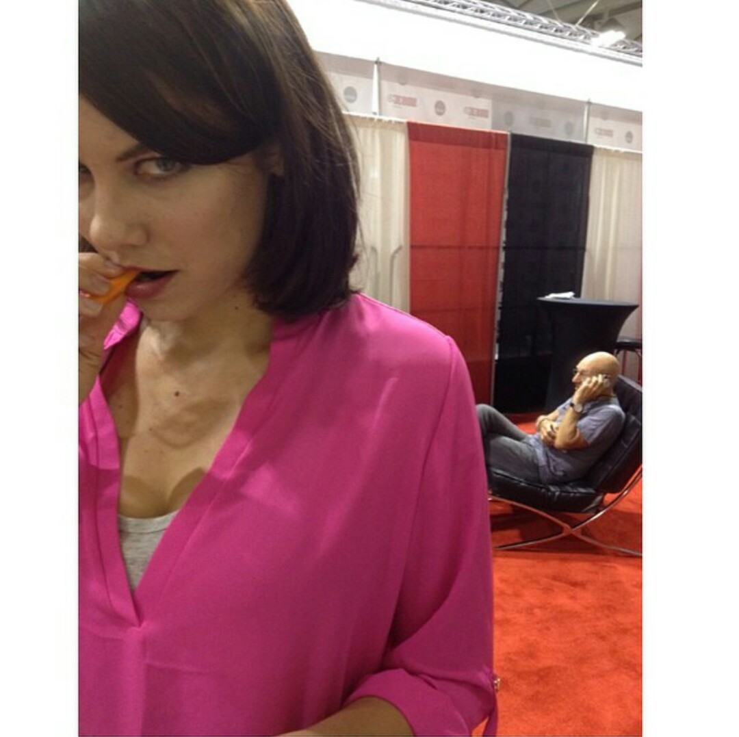 the walking dead, lauren cohan, and maggie greene image