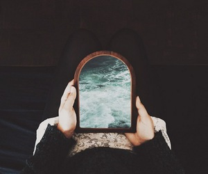 mirror and sea image