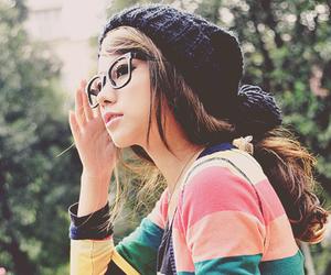 girl, glasses, and ulzzang image