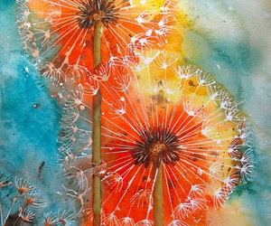 art, flowers, and dandelion image