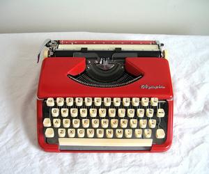 typewriter, beautiful, and vintage image