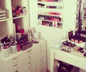 makeup, make up, and room image
