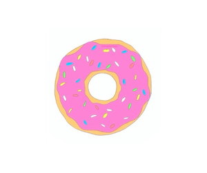 donuts, homer, and simpson image
