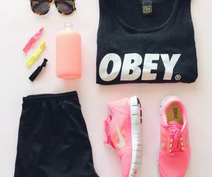 nike, obey, and pink image