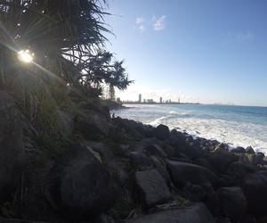 beautiful, burleigh beach, and sunset image