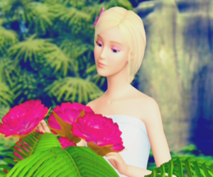 2007, barbie, and flowers image