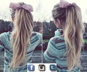 beautiful girl, perfect hair, and pony tail image