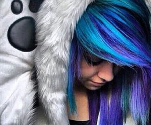 awesome, girl, and purple image