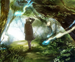 fantasy, forest, and mushishi image