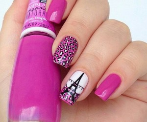 nails, pink, and paris image