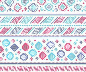aztec, pattern, and pink image