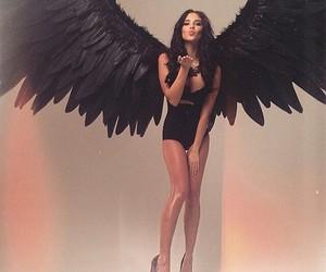 angel, black, and model image